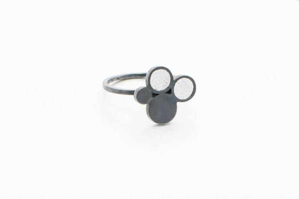 Buborék gyűrű design ékszer