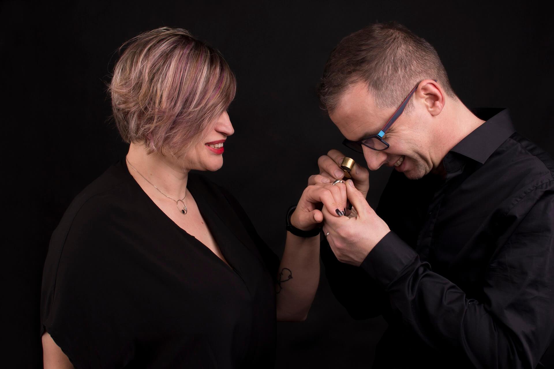 Design ékszerek - Rubinek házaspár